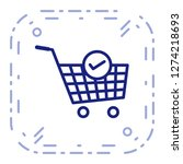 vector verified cart items icon  | Shutterstock .eps vector #1274218693