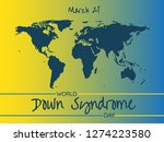 world down syndrome day   march ... | Shutterstock .eps vector #1274223580