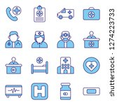 medical and medical staff icons ... | Shutterstock .eps vector #1274223733