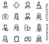 medical and medical staff icons ... | Shutterstock .eps vector #1274223736