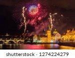 night photo of new year... | Shutterstock . vector #1274224279