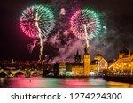 night photo of new year... | Shutterstock . vector #1274224300