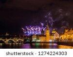 night photo of new year... | Shutterstock . vector #1274224303