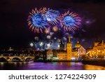 night photo of new year... | Shutterstock . vector #1274224309
