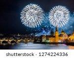 night photo of new year... | Shutterstock . vector #1274224336