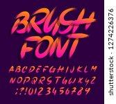 brush alphabet font. uppercase... | Shutterstock .eps vector #1274226376