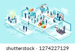 isometric vector of virtual... | Shutterstock .eps vector #1274227129