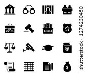 law and legal right icons pack. ... | Shutterstock .eps vector #1274230450