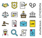 law and legal right icons pack. ... | Shutterstock .eps vector #1274230456