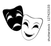 theatrical mask on a white... | Shutterstock .eps vector #127423133