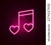 love music neon sign. vector... | Shutterstock .eps vector #1274237920