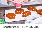 step by step. decorating... | Shutterstock . vector #1274237986