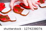 step by step. decorating... | Shutterstock . vector #1274238076