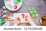 flat lay. step by step.... | Shutterstock . vector #1274238100