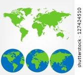 world map of vector | Shutterstock .eps vector #127424510