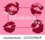 valentine's day greeting card | Shutterstock .eps vector #1274259829