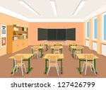 vector illustration of an empty ... | Shutterstock .eps vector #127426799