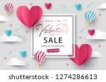 happy valentine s day sale...   Shutterstock .eps vector #1274286613