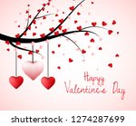valentine tree with heart... | Shutterstock .eps vector #1274287699
