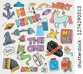 set of various cartoon vector... | Shutterstock .eps vector #1274290513
