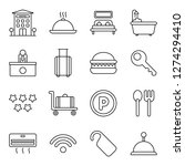 hotel icons pack. isolated... | Shutterstock .eps vector #1274294410