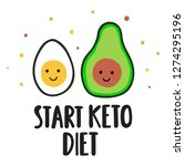start keto diet. vector banner... | Shutterstock .eps vector #1274295196