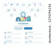 tolerance web page template... | Shutterstock .eps vector #1274296156