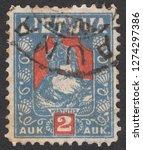 lithuania   circa 1921  a stamp ... | Shutterstock . vector #1274297386