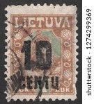 lithuania   circa 1922  a stamp ... | Shutterstock . vector #1274299369