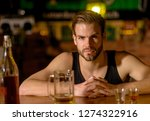 i like to go to pubs. man... | Shutterstock . vector #1274322916