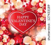 valentine's day card  banner | Shutterstock . vector #127433189