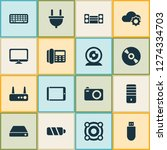 gadget icons set with hard... | Shutterstock .eps vector #1274334703