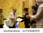 receiving a certificate give to ... | Shutterstock . vector #1274348293