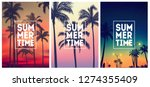 summer tropical backgrounds set ... | Shutterstock .eps vector #1274355409