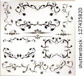 vector set of vintage frames ... | Shutterstock .eps vector #127435820