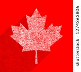 canadian flag the maple leaf... | Shutterstock .eps vector #1274363806