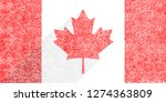 canadian flag the maple leaf in ... | Shutterstock .eps vector #1274363809