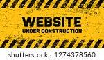 caution website under... | Shutterstock .eps vector #1274378560