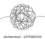 hand drawn tangle scrawl sketch ... | Shutterstock .eps vector #1274382310