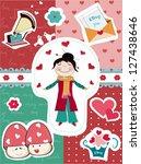 happy valentine s day set | Shutterstock .eps vector #127438646