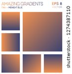 colorful gradients in tan ... | Shutterstock .eps vector #1274387110