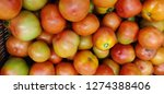red tomatoes for vegetables and ... | Shutterstock . vector #1274388406