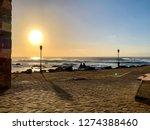 Seafront Promenade  Silhouette...