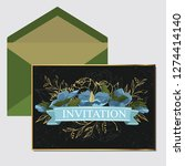 wedding invite  invitation menu ... | Shutterstock .eps vector #1274414140