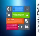 modern design layout  ... | Shutterstock .eps vector #127442114