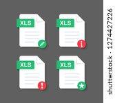 flat design with xls files... | Shutterstock .eps vector #1274427226