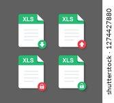 flat design with xls files... | Shutterstock .eps vector #1274427880