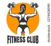fitness club emblem with... | Shutterstock . vector #1274428090