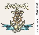 nautical vintage label  emblem... | Shutterstock . vector #1274431189