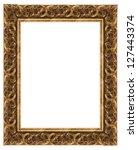 wooden frame for paintings or... | Shutterstock . vector #127443374